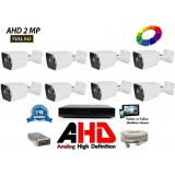 8 Kameralı 2Mp AHD FullHD Set 40-50MT.