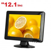 "12.1"" inc HD LED Monitör VGA AV HDMI USB Girişli"
