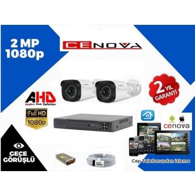 2 KAMERALI CENOVA 2 MP FULL HD SET + HDD
