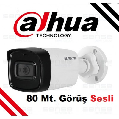 Dahua HAC-HFW1200TL-A-0360B 2mp 80mt IR Bullet HDCVI Sesli Kamera