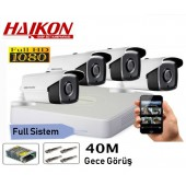 4 KAMERALI HAIKON 2MP 40Mt. GÜVENLİK SİSTEMİ
