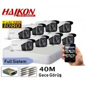8 KAMERALI HAIKON 2MP 40Mt. GÜVENLİK SİSTEMİ