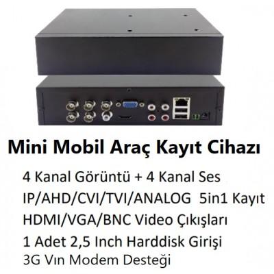 4 KANAL AHD 5 in1 Mini Mobil Kayıt Cihazı