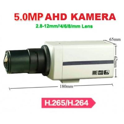 5MP 4k ULTRAHD 1440P AHD BOX KAMERA ve LENS