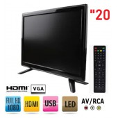 20 inch FullHD Vga-HDMI-Rca-USB Monitör Led Tv