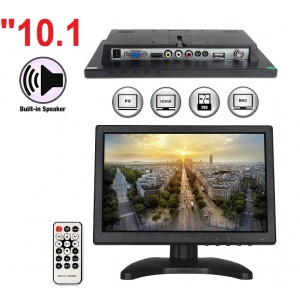 "10.1"" inç HD LED CCTV Monitör BNC VGA AV HDMI Video Girişli"