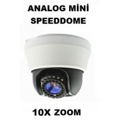 ANALOG MİNİ SPEED DOME KAMERA İÇMEKAN 700 TVL,10X