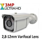 3 MP 63 LED 2,8-12mm Varifocal Ahd Güvenlik Kamerası