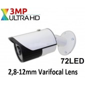 72 Led 3MP VARİFOCAL AHD 1080p GÜVENLİK KAMERASI