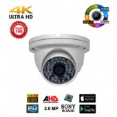 3 MP ULTRAHD 48 LED AHD DOME KAMERA 1080P