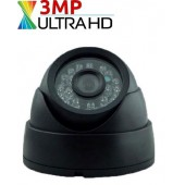 3 MP Ahd UltraHD Siyah Dome Kamera
