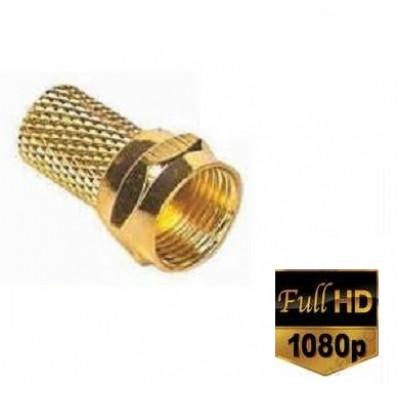 RG6 GOLD F Konnektör Altın Sarı 1.kalite