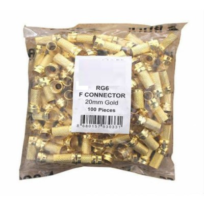 RG6 F Konnektör Gold 100 Adet