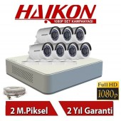 7 KAMERALI HAIKON HD 2 MP 1080P KAMERA GÜVENLİK SİSTEMİ