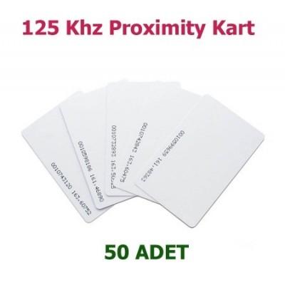 125 kHz Proximity Kart Göster Geç Akıllı Manyetik Kart 50 lik