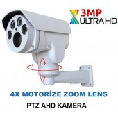 3 MP AHD UltraHD 1080P 4X Motorize Zoom PTZ Kamera