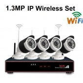 4 KAMERALI 1.3 MP İP WİFİ KABLOSUZ SET