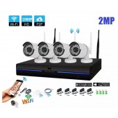 4 KAMERALI 2 MP FULLHD 1080P İP WİFİ KABLOSUZ SET