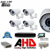 2 MP UltraHD 4Lü 66 Led AHD Kamera Sistemi