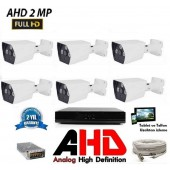 6 Kameralı 2Mp AHD FullHD Set 40-50MT.