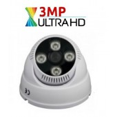 3 MP ULTRAHD 4 ARRAY LED AHD DOME KAMERA, 3,6mm