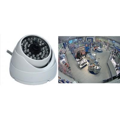 Geniş Açı Balık Gözü Görebilen 700 TVL HD Dome Kamera